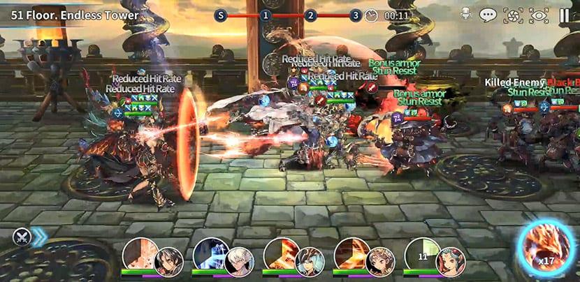 Nivel gráfico de Final Blade