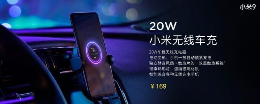 Nuevo cargador inalámbrico de coche de Xiaomi