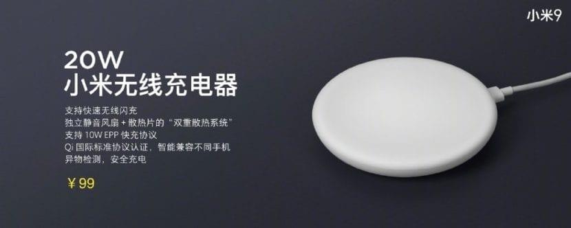 Nuevo cargador inalámbrico de escritorio de Xiaomi