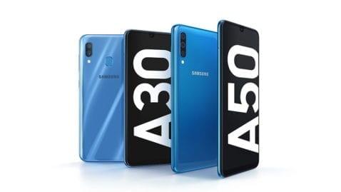 Samsung Galaxy A30 y A50 oficial