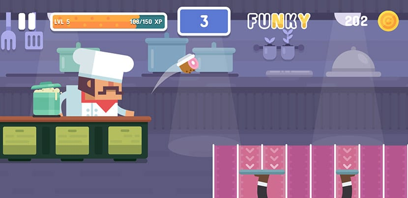 Sirviendo en Funky Restaurant