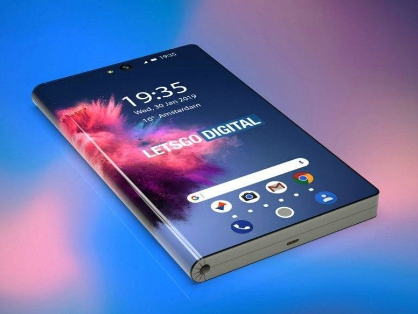Render 3D del smartphone plegable 5G de Huawei