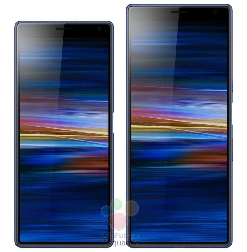Sony Xperia 10 y Xperia 10 Plus renders