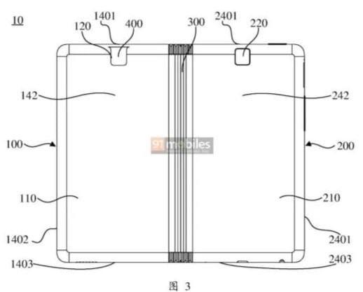 Patente de Oppo de teléfonos plegables