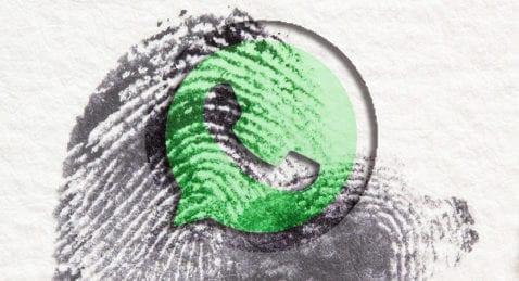 WhatsApp huella