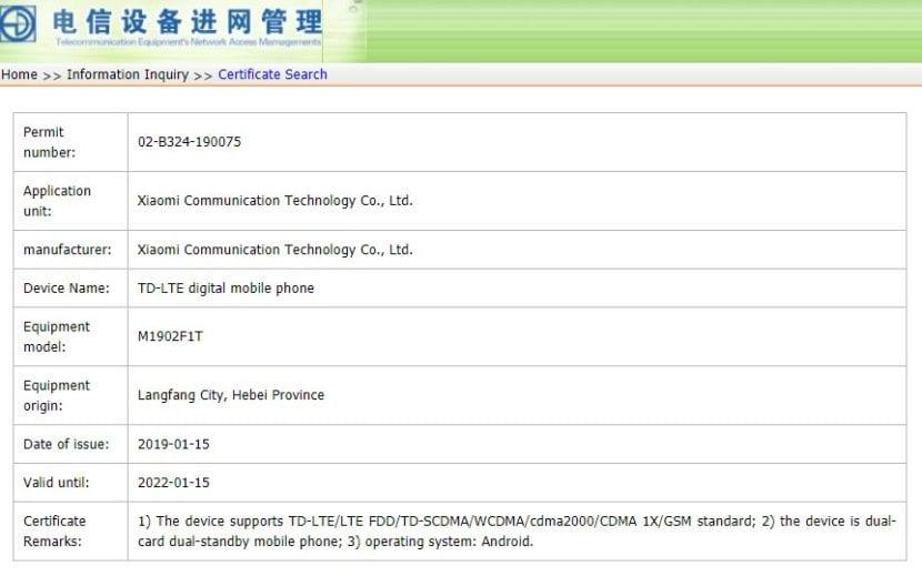 El Xiaomi Mi 9 se ha filtrado en TENAA