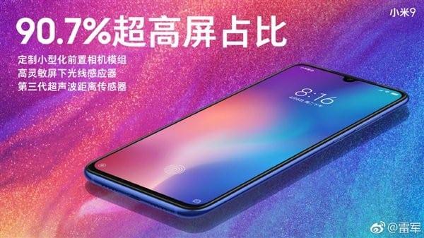 Relación pantalla-cuerpo Xiaomi Mi 9