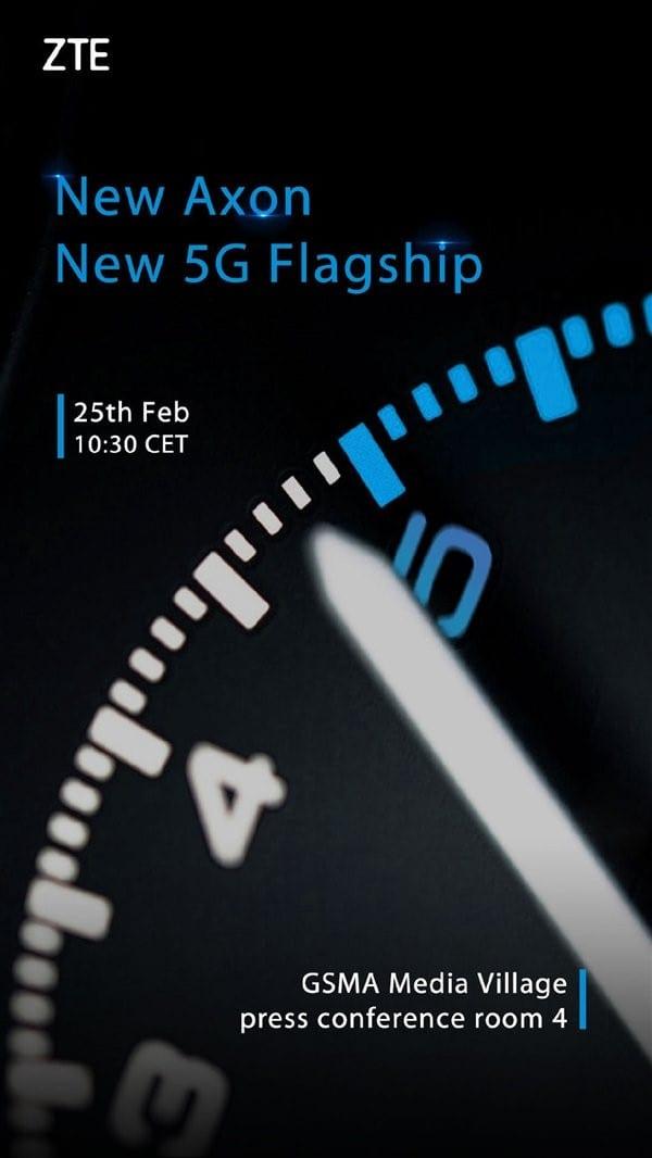 Invitación de ZTE para el debut de su smartphone 5G