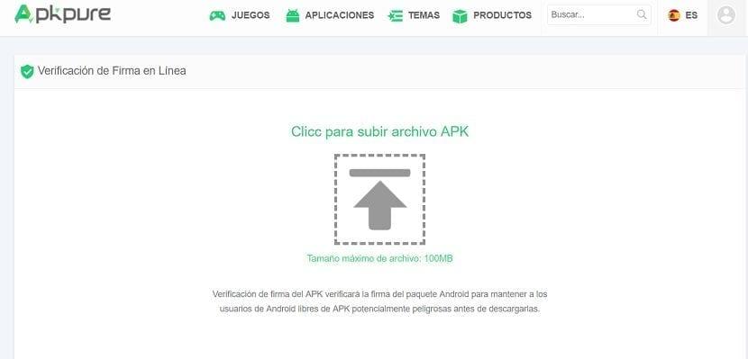 APK Pure comprobador