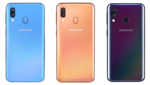 Galaxy A40 Colores