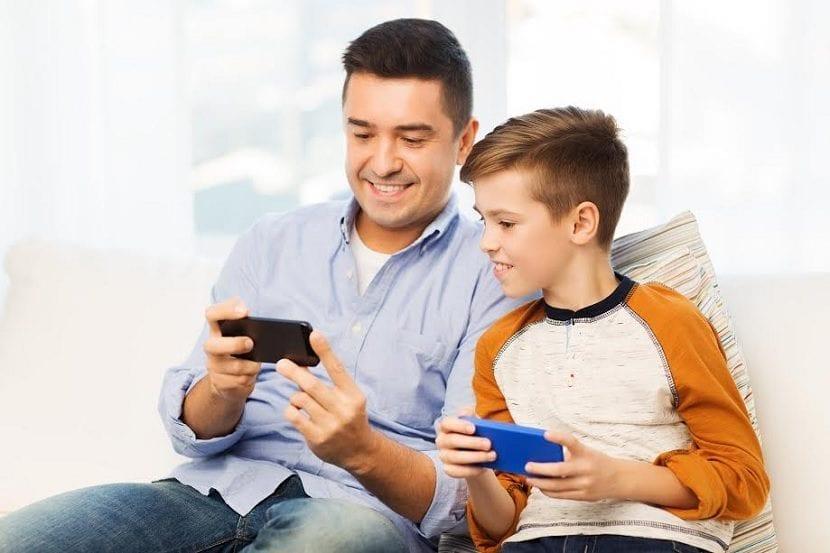 Smartphones dia del padre