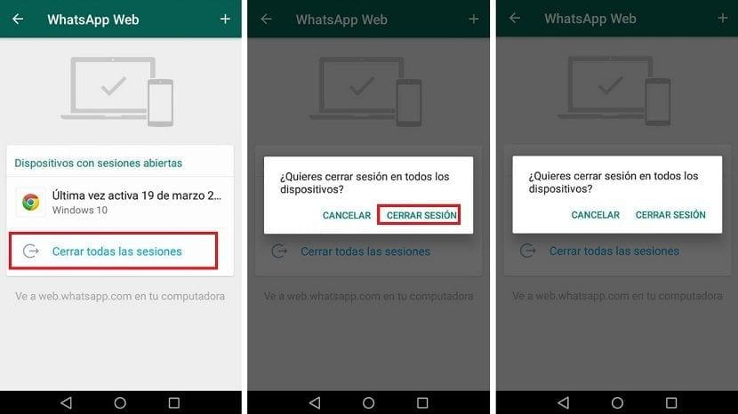 WhatsApp Web cerrar sesion