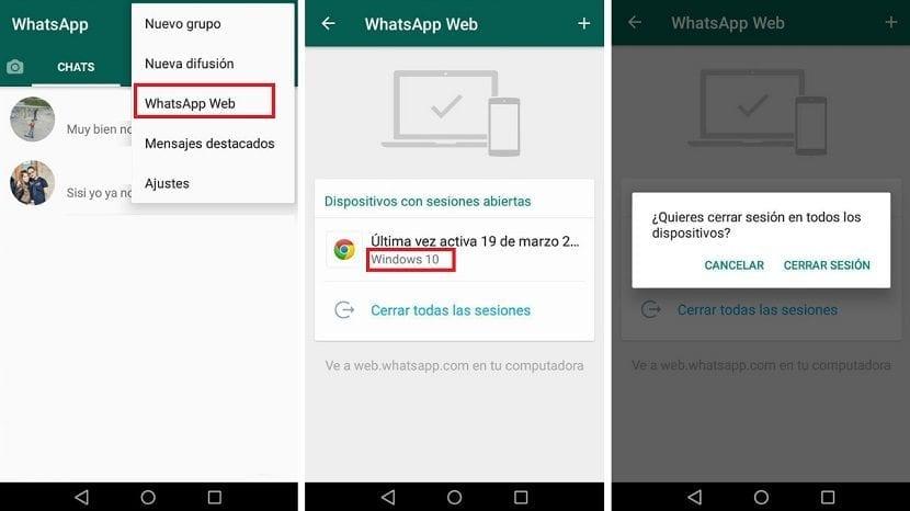WhatsApp inicio sesion