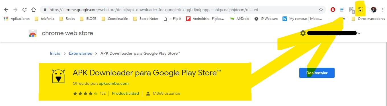 Descargar APKS desde Play Store