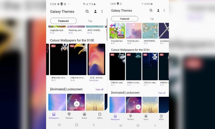 Fondos de pantalla para el Galaxy S10