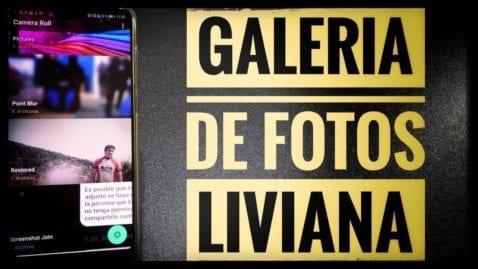 Una aplicación galería de fotos liviana y funcional