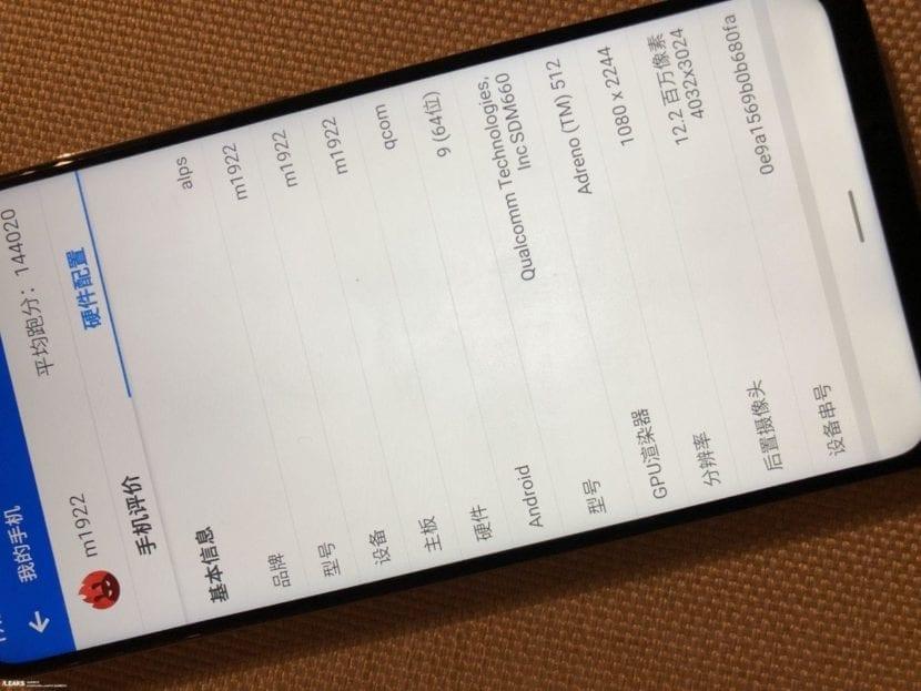 Meizu Note 9 Lite en AnTuTu