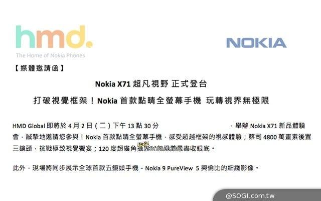 Especificaciones filtradas del Nokia X71