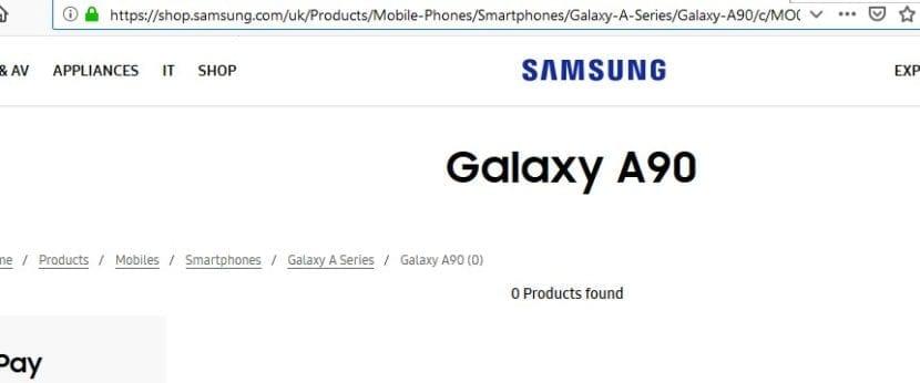 Samsung Galaxy A90 filtrado