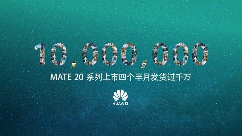 La serie Mate 20 cruza los 10 millones de envíos