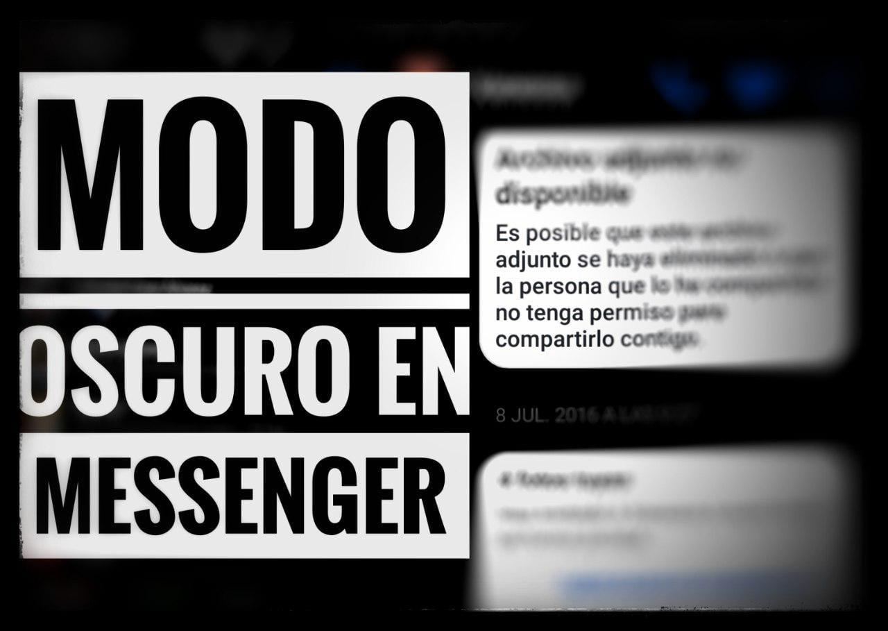 Habilitar modo oscuro Facebook Messenger vídeo