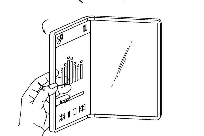 LG Patente plegable transparente