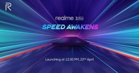 Póster de lanzamiento del Realme 3 Pro