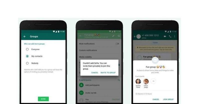 Whatsapp invitaciones grupos