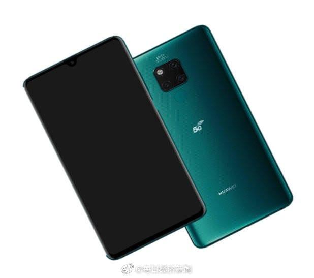 Render del Huawei Mate 20 X 5G