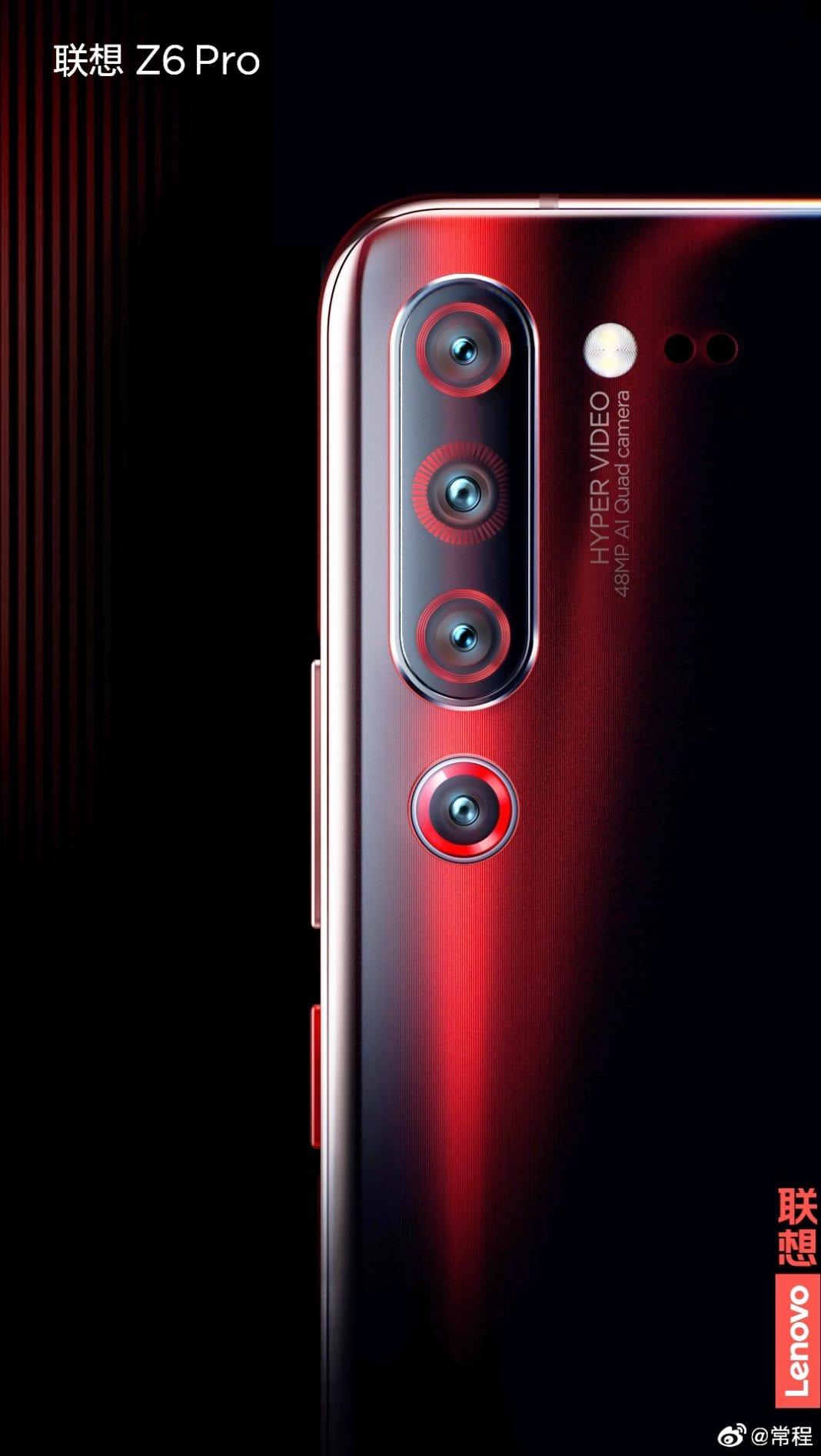 El Lenovo Z6 Pro vendrá con cuatro cámaras traseras y tomara fotos de 100 MP