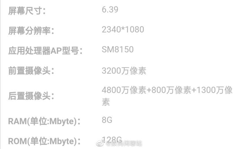 Especificaciones filtradas del Redmi con Snapdragon 855