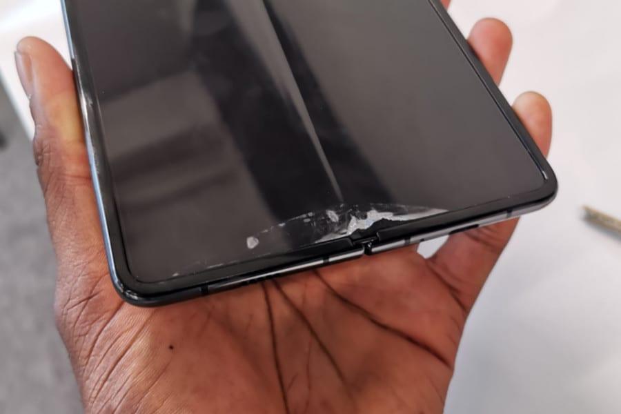 Explicación de las pantallas rotas de Samsung