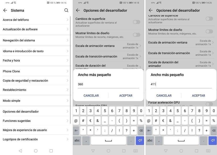 Cambiar DPI en Android