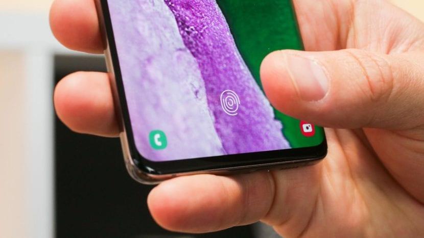 Galaxy S10 Sensor de huellas