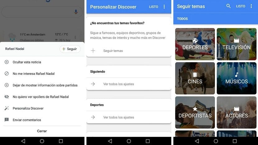 Google Discover seguir temas