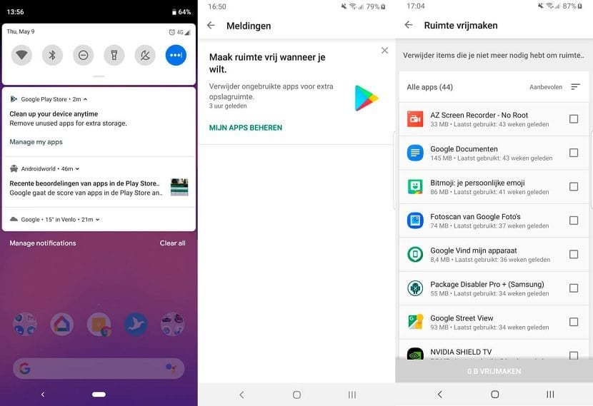 Google Play eliminar apps que no se usan