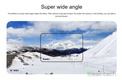 Cámara ultra gran angular del Meizu 16Xs