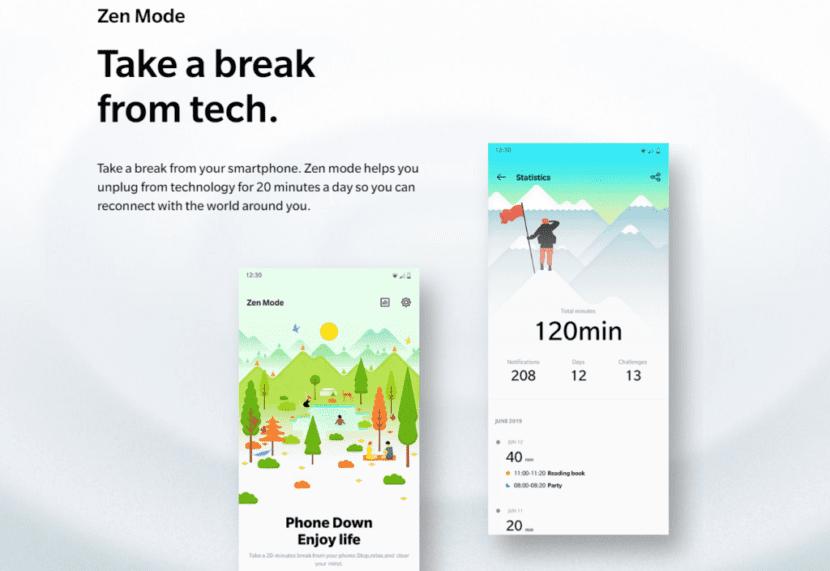 Modo Zen del OnePlus 7