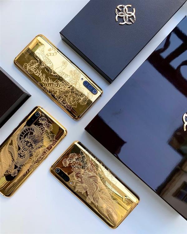 Xiaomi Mi nueve fabricado en oro