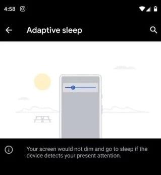 Función Sueño adaptativo en Android Q