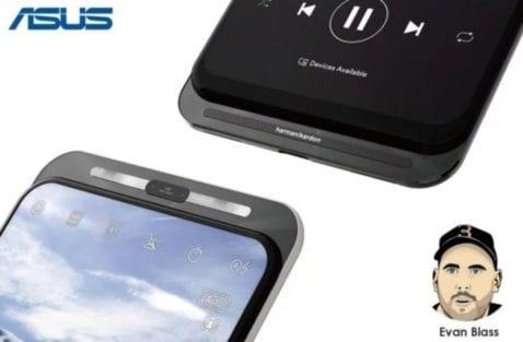 Smartphone Asus con control deslizante