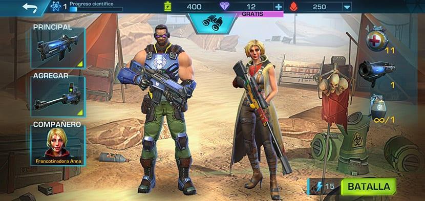 Los personajes protagonistas en Evolution 2