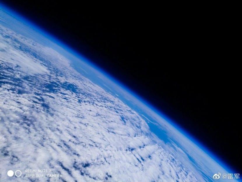 Foto de la Tierra tomada con el Redmi Note 7