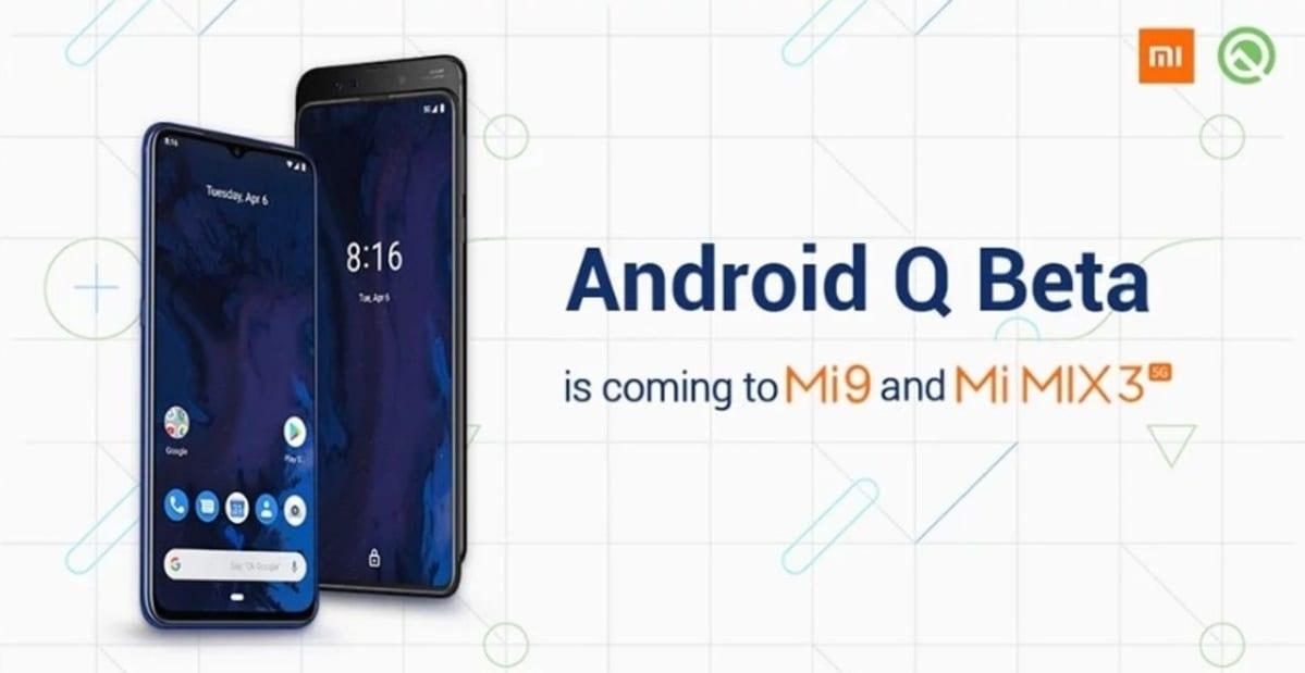 Android Q beta para el Xiaomi Mi 9 y el Mi Mix 3 5G