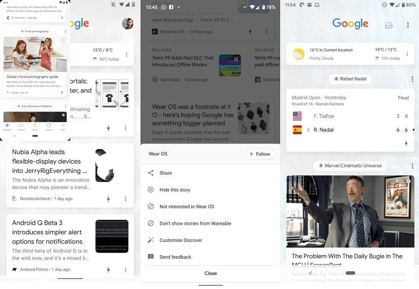 Google Discover nueva interfaz