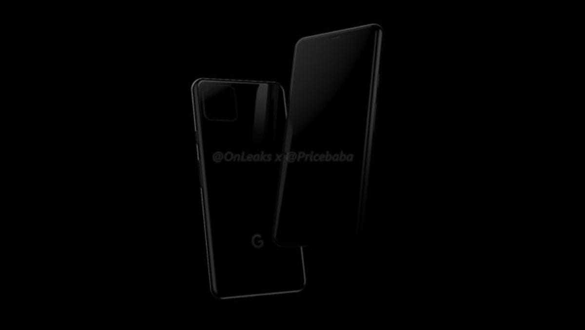 Google Pixel 4 filtrado en imagen render