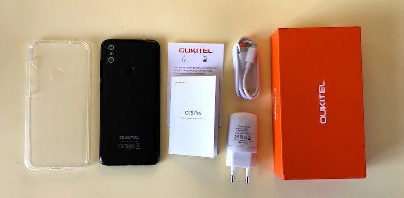 OUKITEL C15 Pro caja
