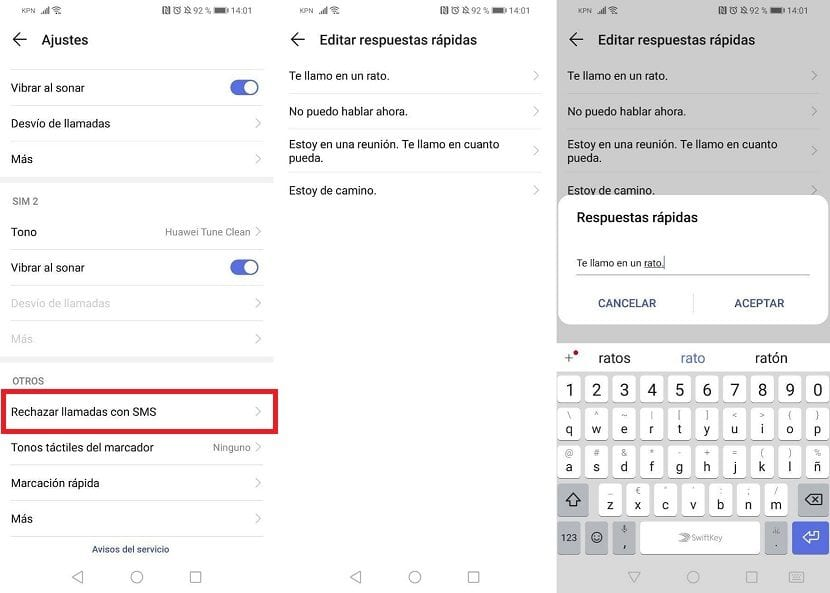 Respuestas automaticas Android