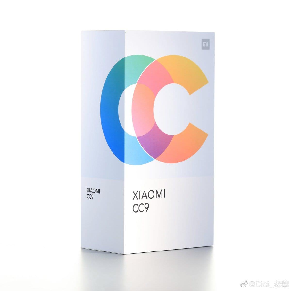 Caja de venta del Xiaomi Mi CC9