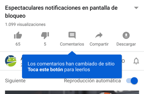YouTube Comentarios